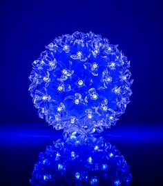 EV LED 80 Ball with Flowers Blue D13cm