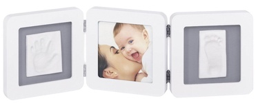 Baby Art Modern Trendy Double Print Frame White/Grey