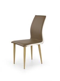 Kėdė Halmar  K-264, medžio, rudos ir baltos spalvų