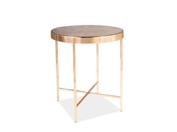 Kafijas galdiņš Signal Meble Fortuna C Marble/Gold, 430x430x460 mm