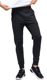 Audimas Cotton Slim Fit Sweatpants Black 176/XL