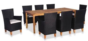Комплект уличной мебели VLX Outdoor Dining Set 44102, черный/коричневый, 8 места
