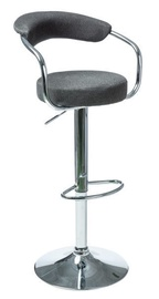 Signal Meble C-231 Fabric Bar Stool Dark Grey