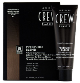 American Crew Precision Blend Hair Dyes 3x40ml 4-5Medium Natural