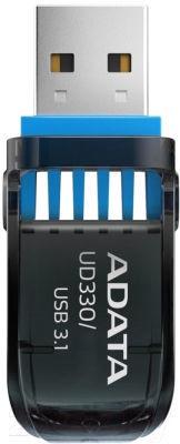 USB atmintinė ADATA UD330 Black, USB 3.1, 32 GB