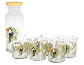 Trauku komplekts Pasabahce Bird Carafe And Glass Set 1.26l 380ml 7pcs