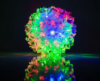 EV LED 50 Ball with Flowers Multi Color D11cm