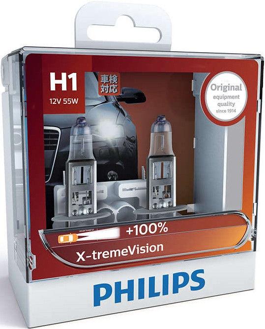 Philips H1 X-tremeVision Car Headlight Bulb 2pcs