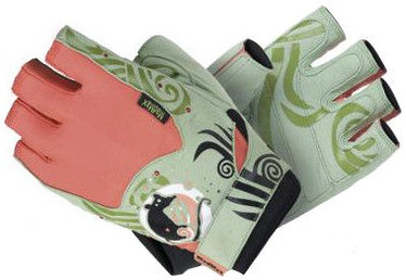 Mad Max Rats Gloves with Swarovski Elements Green L