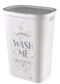 Curver Infinity Laundry Basket 59l White With Inscription