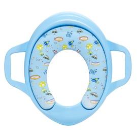 Tualetes poda vāks bērniem OKKO S701, gaiši zils ar mīkstu pārklājumu