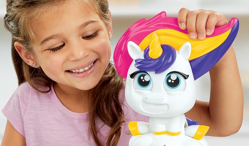 Žaislinis modelinas Ledų Gaminimo Aparatas Habro Play-Doh Tootie The Unicorn Ice Cream Set, E5376