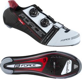 Велосипедная обувь Force Cavalier Carbon, белый/черный/красный, 44