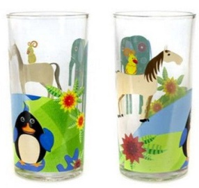 Banquet Animals on Globe Glass Set 2pcs 220ml