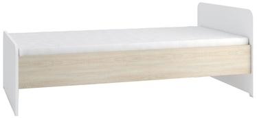 Gib Meble Bed Sonoma Oak/White