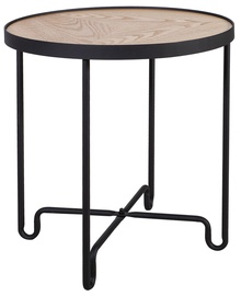 Home4you Coffee Table Elton 45x50cm Black/Oak