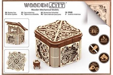 3D mīkla Wooden City Model Mystery Box, 176 gab.