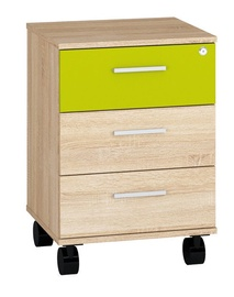 Komoda ML Meble Optimal 24 Sonoma Oak/Green