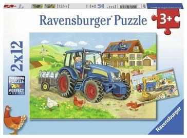 Puzle Ravensburger Hard at Work 07616, 2x12 gab.