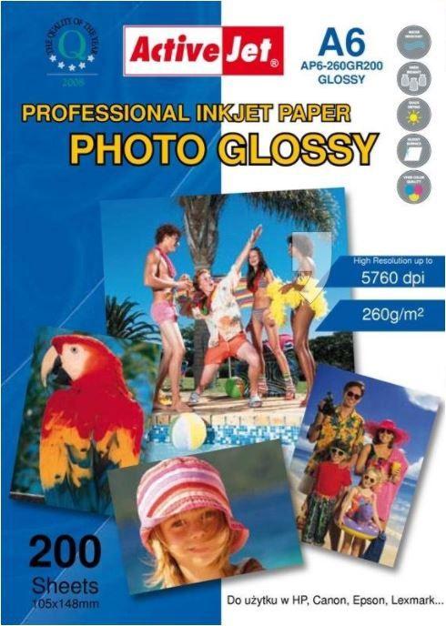 ActiveJet InkJet Photo Paper Glossy A6 200pcs