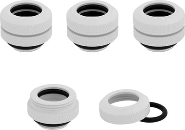 Corsair Hydro X Series XF Hardline 12mm OD Fitting Four Pack White