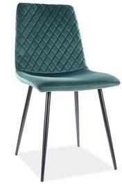 Стул для столовой Signal Meble Modern Irys Velvet, зеленый