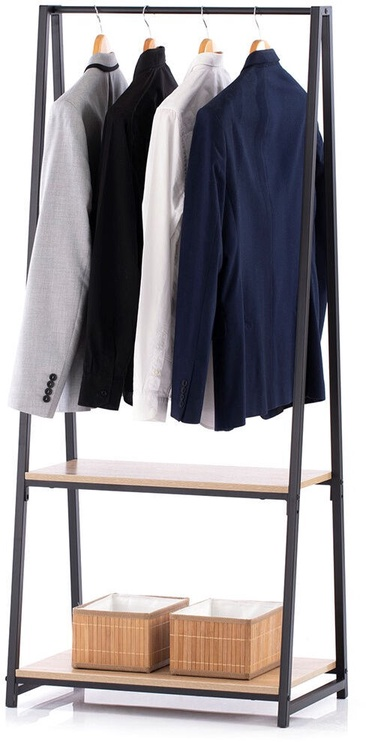 Вешалка для одежды Homede Casal, черный/дубовый
