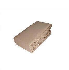 Paklodė Domoletti Satin beige, su guma, satino medvilnės, 200 x 180 cm