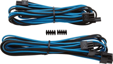 Corsair Premium Individually Sleeved PCIe Cables with Single Connector Type 4 (Gen 3) Blue/Black