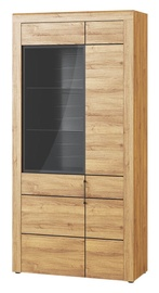 Szynaka Meble Kama 12 Display Unit Camargue Oak/Black Matt