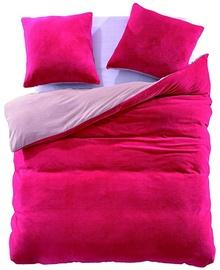 DecoKing Furry 11 Bedding Set Amaranth/Light Pink 200x200/80x80 2pcs