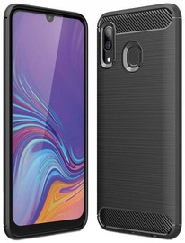 Hurtel Carbon Back Case For Samsung Galaxy A30 Black