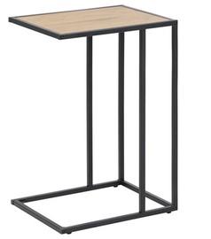 Садовый стол Home4you Seaford Oak Black, 43 x 35 x 63 см