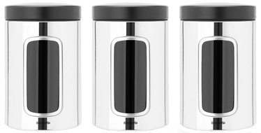 Brabantia Window Canister 1.4l Brilliant Steel Set 3pcs