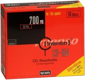 Intenso CD-RW 12X 700MB 10pcs Slim Case 2801622