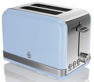 Swan 2 Slice Retro Toaster ST19010BLN Blue