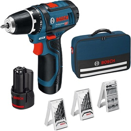 Bosch GSR 12V-15 Cordless Drill with Accessories