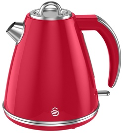 Swan Retro Jug Kettle Red