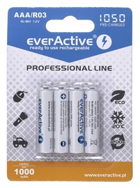 EverActive Professional Line Rechargeable Batteries R03 AAA 1050mAh