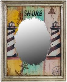 Peegel Home4you Lighthouse 76144 Antique Silver, riputatav, 39x47 cm
