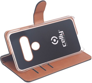Celly Wally Book Case For LG G8S ThinQ Black