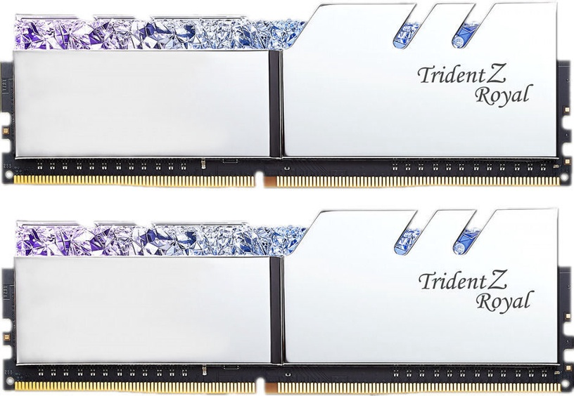 G.SKILL Trident Z Royal Silver 16GB 3200MHz CL14 DDR4 KIT OF 2 Series F4-3200C14D-16GTRS
