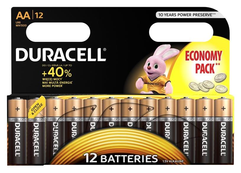 Duracell Alkaline Power Batteries AA B12 12pcs