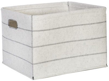 Home4you Basket Max Felt 2 43x33xH27cm White