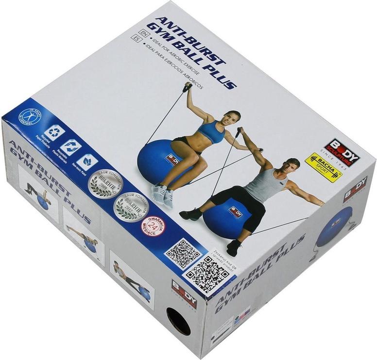 Body Sculpture Anti-Burst Gym Ball + Fitness Rubber Bands 65cm Blue