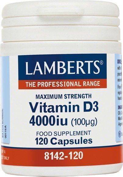 Lamberts Vitamin D3 4000 UI 120 Caps