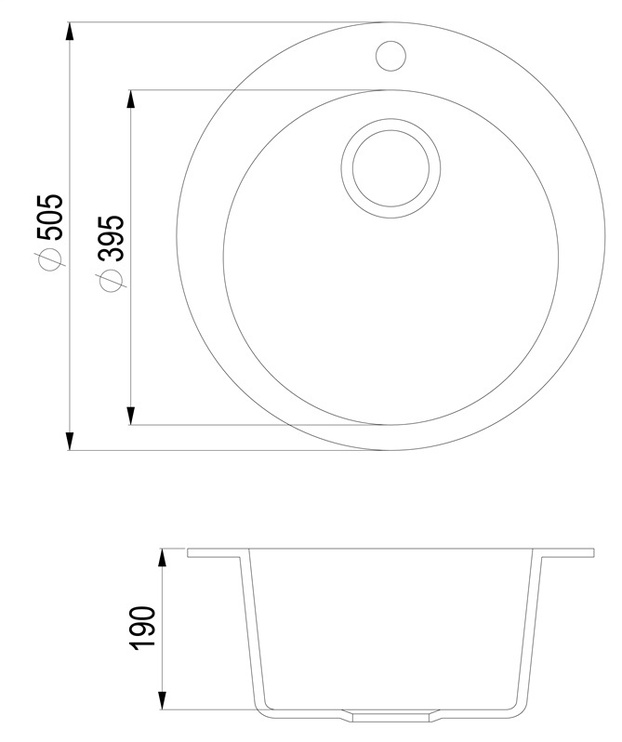 Aquasanita Sink SR100 Clarus Beige 505x450mm