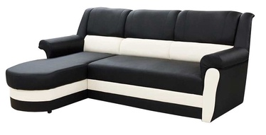 Idzczak Meble Bruno Corner Sofa Left Black/White