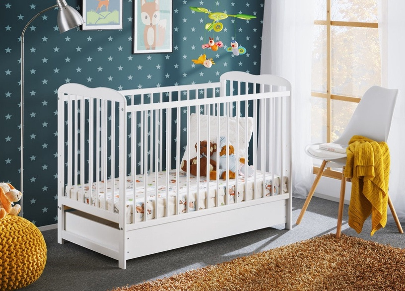 ASM Ala II Plus Baby Cot White