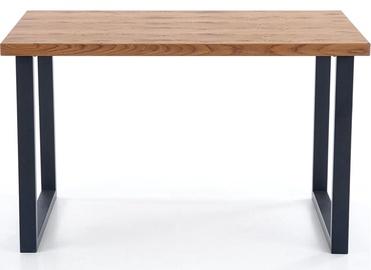 Pusdienu galds Halmar Horus Light Oak/Black, 1260 - 2060x800x760 mm